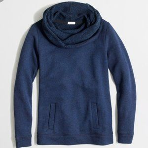 J. Crew | Dark Blue Funnel-Neck Sweatshirt